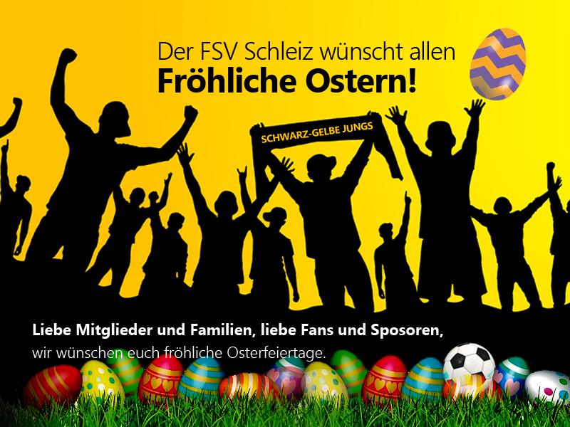 Frohe Ostern wünscht der FSV Schleiz!